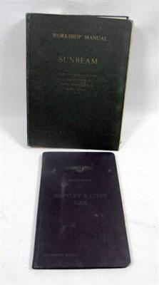 Lot 129-Bentley/Sunbeam Technical Literature