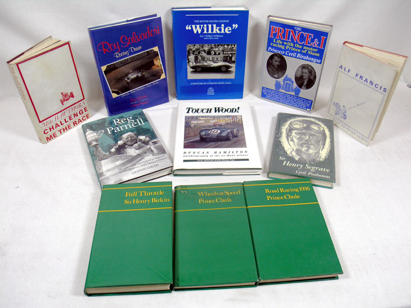Lot 131-Motor Racing Auto/Biography Books