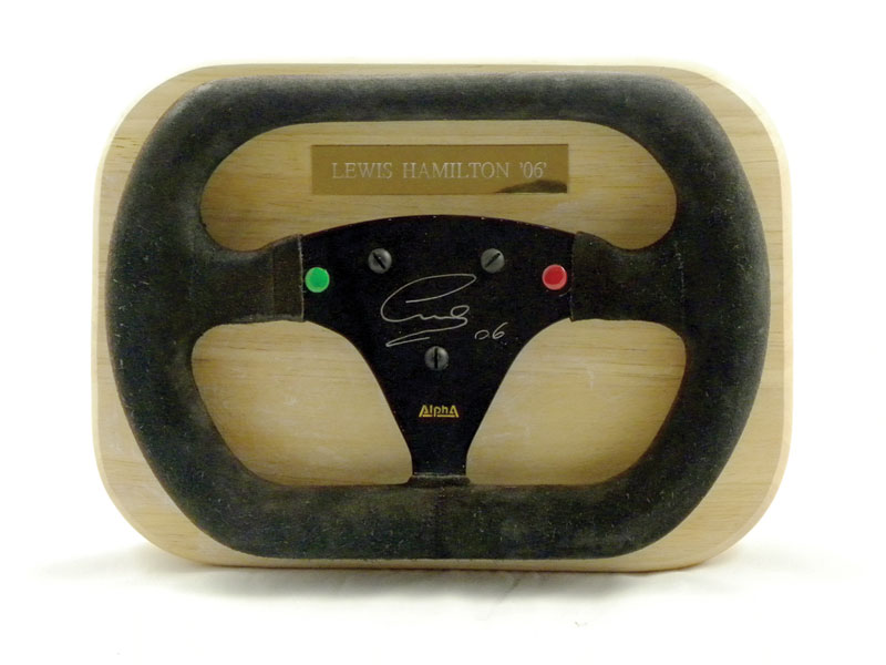 "Lot 206-Lewis Hamilton Signed 2006 ""Alpha"" Steering Wheel"