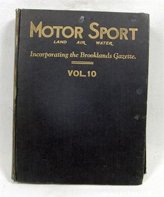Lot 119-Motorsport Magazine - Vol. 10, Bound