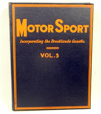 Lot 120-Bound Motorsport Magazine - Vol. 5 (Reprinted)