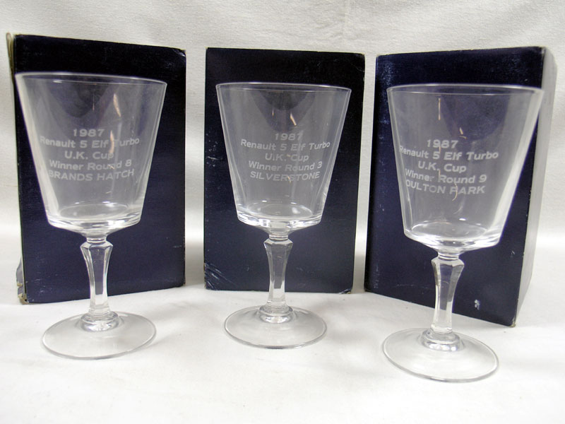 Lot 228-Three Glass Renault Awards