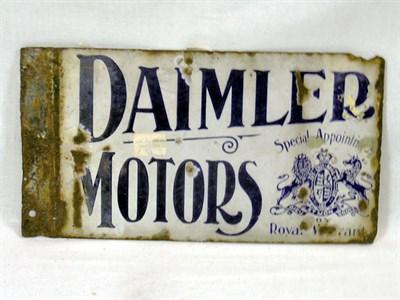 Lot 703 - Daimler Motors Enamel Sign