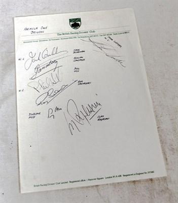 Lot 604 - Seven F1 Autographs