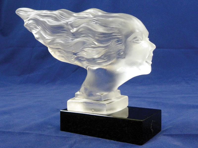 Lot 300-'Victoire' Glass Accessory Mascot