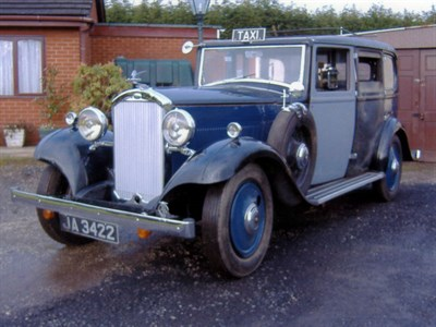 Lot 31-1933 Humber 16/60 Taxicab