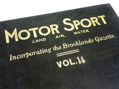 Lot 116-Eight Bound Volumes of Motorsport Magazine