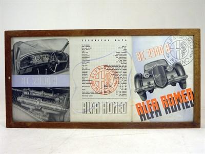 Lot 130-Alfa Romeo 8C 2900B Sales Brochure