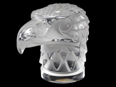 Lot 344-Tete D'Aigle / Eagle's Head Glass Mascot by R. Lalique