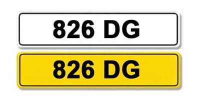 Lot 3-Registration Number 826 DG