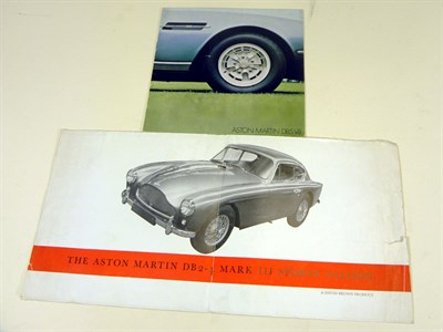 Lot 107-Two Aston Martin Sales Brochures