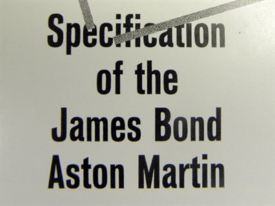 Lot 122-Top Secret - Specification of the James Bond Aston Martin