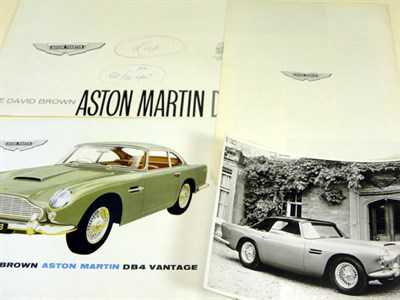 Lot 125-Two Aston Martin DB4 Sales Brochures