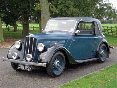 Lot 39 - 1938 Morris 10/4 Series III Special Coupe