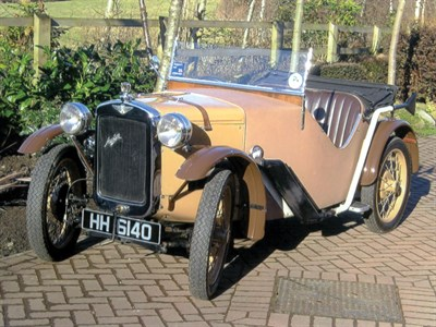 Lot 37-1933 Austin Seven Ulster Style Two-Seater Sports