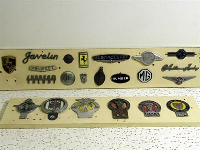 Lot 307-Quantity of Motorcar Badges