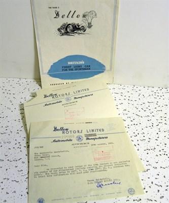 Lot 129-Dellow Paperwork