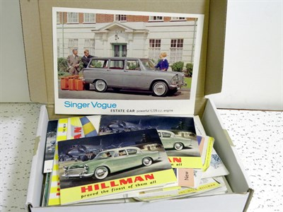 Lot 110-Quantity of British Sales Brochures