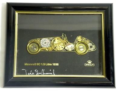 Lot 203-Maserati Timepiece Artwork by Wolf