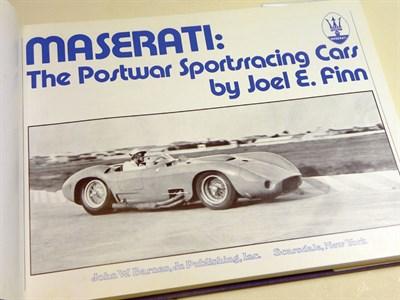 Lot 120-Maserati - 'The Postwar Sportsracing Cars' By Joel Finn
