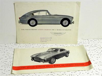 Lot 133-Two Aston Martin Sales Brochures