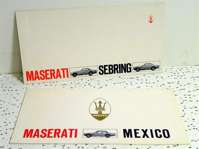 Lot 138-Two Maserati Sales Brochures