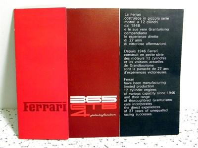 Lot 142-Ferrari 365 GTB/4 Sales Brochure