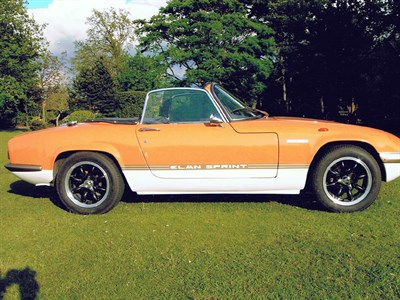 Lot 34-1971 Lotus Elan Sprint Convertible