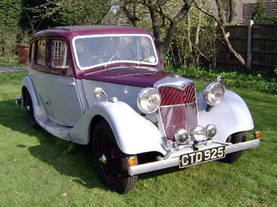Lot 17-1937 Riley 12/4 Adelphi 6-Light Saloon