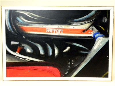 Lot 500-Ferrari Engine Original Oil Painting By B.D.Taylor