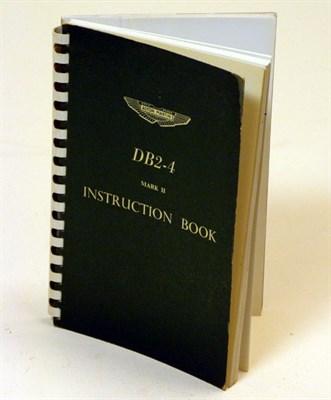 Lot 110-Aston Martin DB2-4 Mark II Instruction Book