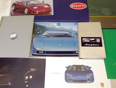 Lot 112-Quantity of Supercar Paperwork