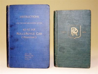 Lot 120-Rolls-Royce Handbooks