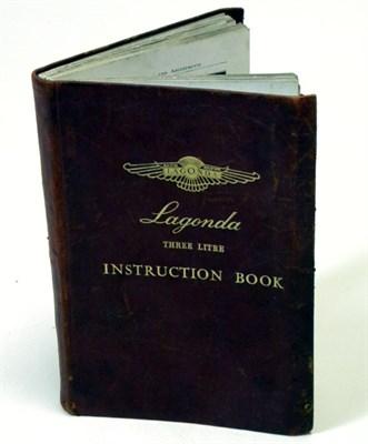 Lot 117-Lagonda 3-Litre Instruction Book