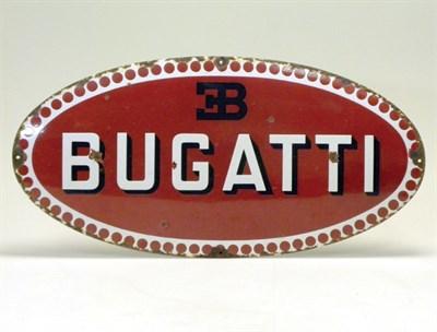 Lot 706-A Large Pre-War Oval Bugatti Showroom Sign