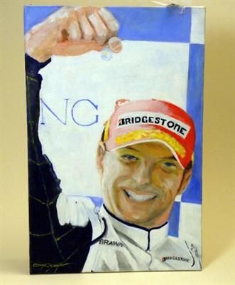 Lot 501-'Jensen Button World Champion 2009' Original Artwork