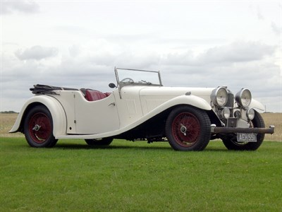 Lot 27-1934 Alvis Speed 20SB Vanden Plas Tourer