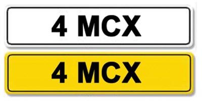 Lot 1-Registration Number 4 MCX