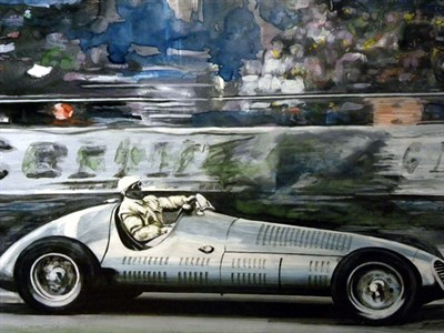 Lot 500-Maserati Original Artwork by B.D. Taylor