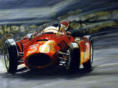 Lot 502-Lancia D50 F1 Original Artwork by B.D. Taylor