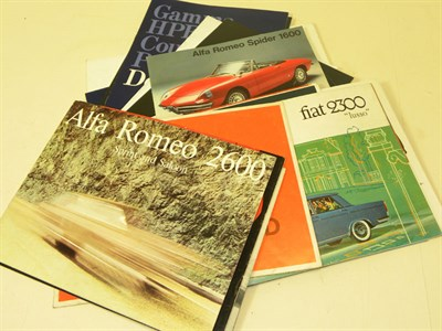 Lot 109-Quantity of Italian Sales Brochures