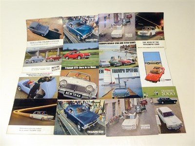 Lot 111-Quantity of Triumph Sales Brochures