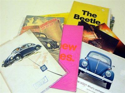 Lot 113-Quantity of VW Brochures