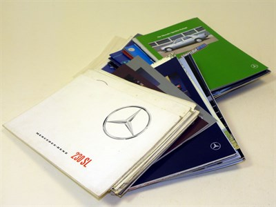 Lot 119-Quantity of Mercedes-Benz Sales Brochures