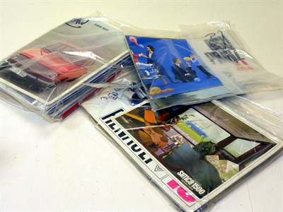 Lot 123-Quantity of French and German Sales Brochures