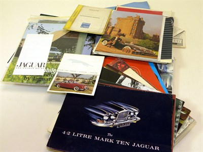 Lot 125-Quantity of Jaguar Sales Brochures