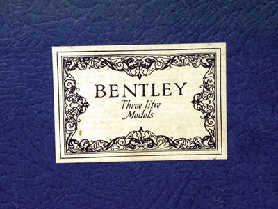 Lot 114-Bentley 3-litre Sales Brochure