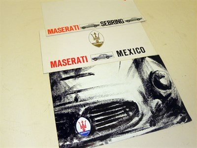 Lot 135-Three Maserati Sales Brochures