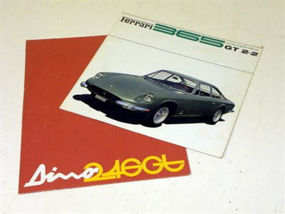 Lot 139-Two Ferrari Sales Brochures