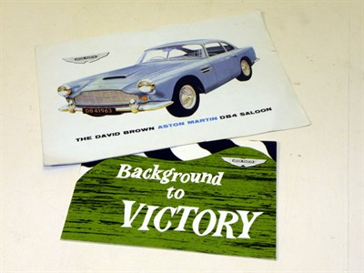 Lot 141-Aston Martin Ephemera